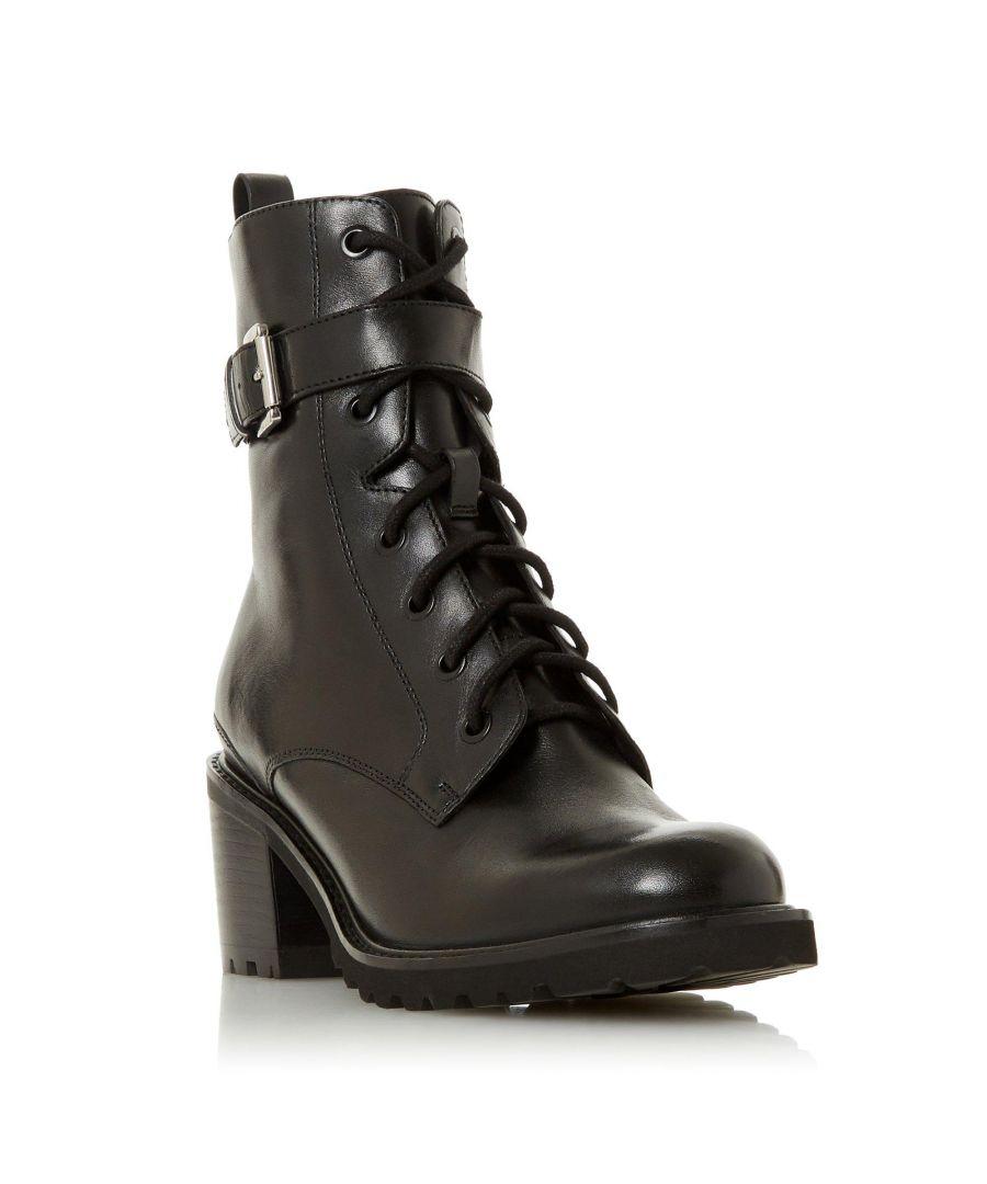 Image for Dune Ladies PLATON Buckle Detail Block Heel Ankle Boot