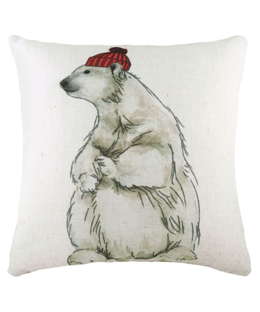 Image for Polar Bear with Hat Cushion