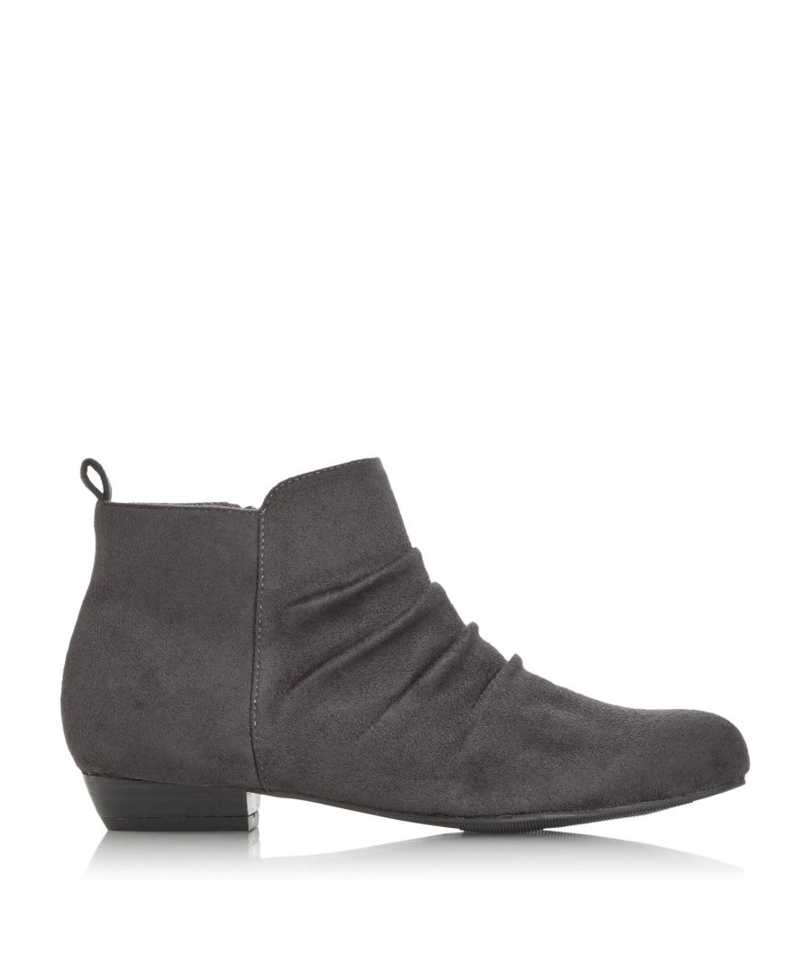 Image for Head Over Heels by Dune Ladies PONTINA Ruched Panel Ankle Boots