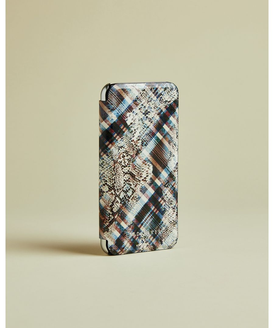 Image for Ted Baker Popppy Quartz Print Iphone X Book Case, Ivory
