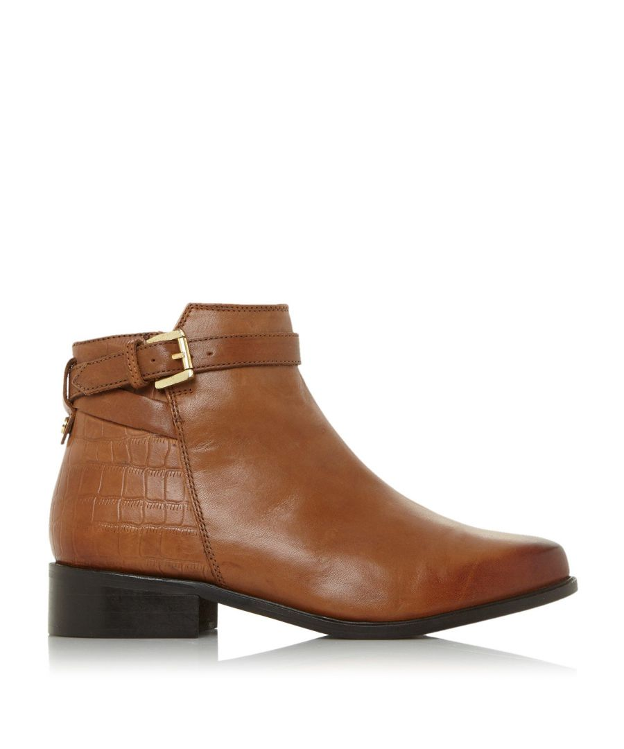Image for Dune Ladies POPPY Buckle Detail Side Zip Ankle Boots