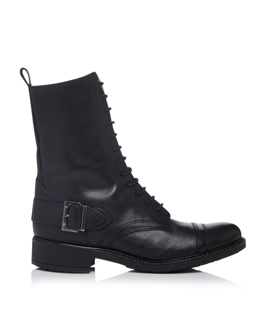 Image for Bertie Ladies PORTAL Lace Up Buckle Ankle Boots
