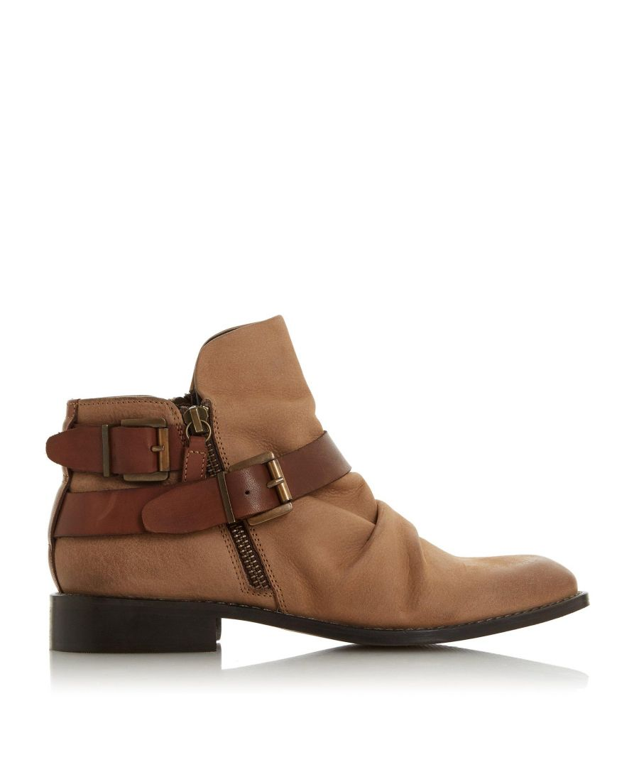 Image for Bertie Ladies PORTED Ruched Ankle Boots