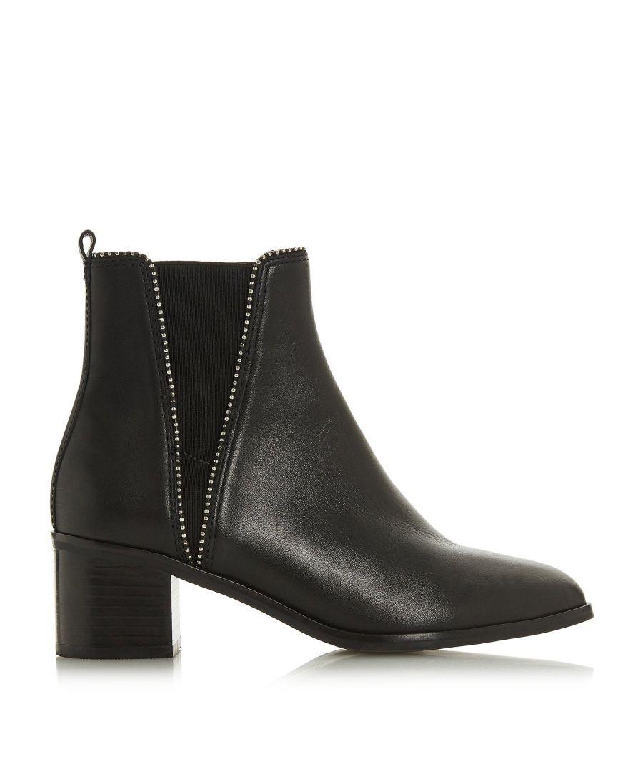 Image for Dune Ladies PORTOBELLO Studded Block Heel Ankle Boots