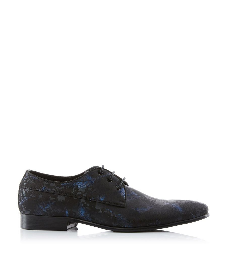Image for Dune Mens PORZANA  Feather Print Lace Up Smart Gibson Shoes