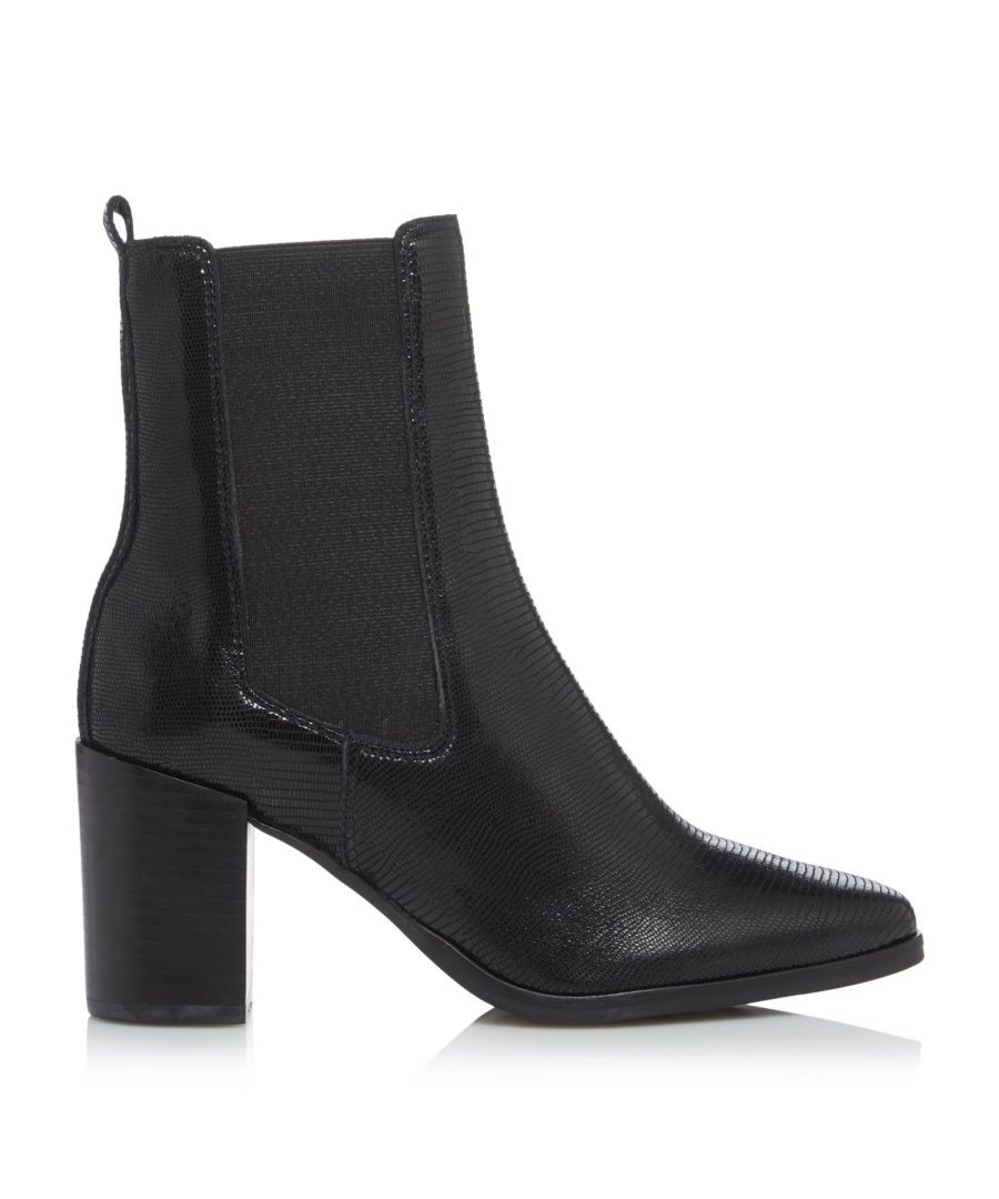 Image for Dune Ladies POSTE Square Toe Block Heel Chelsea Boots