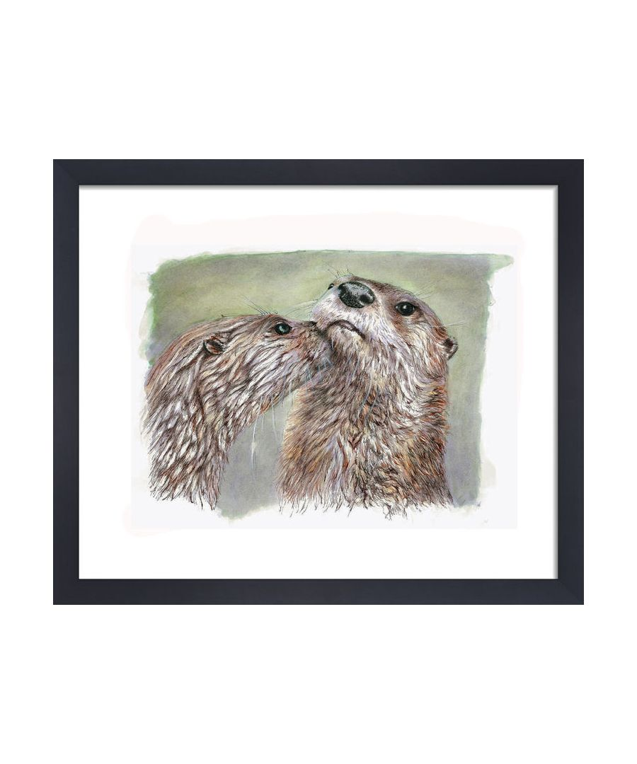 Image for Otters by Clare Thompson Wildlife Art Print