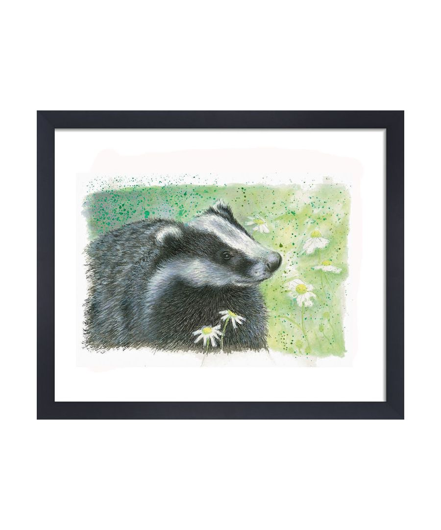 Image for Badger by Clare Thompson Wildlife Art Print