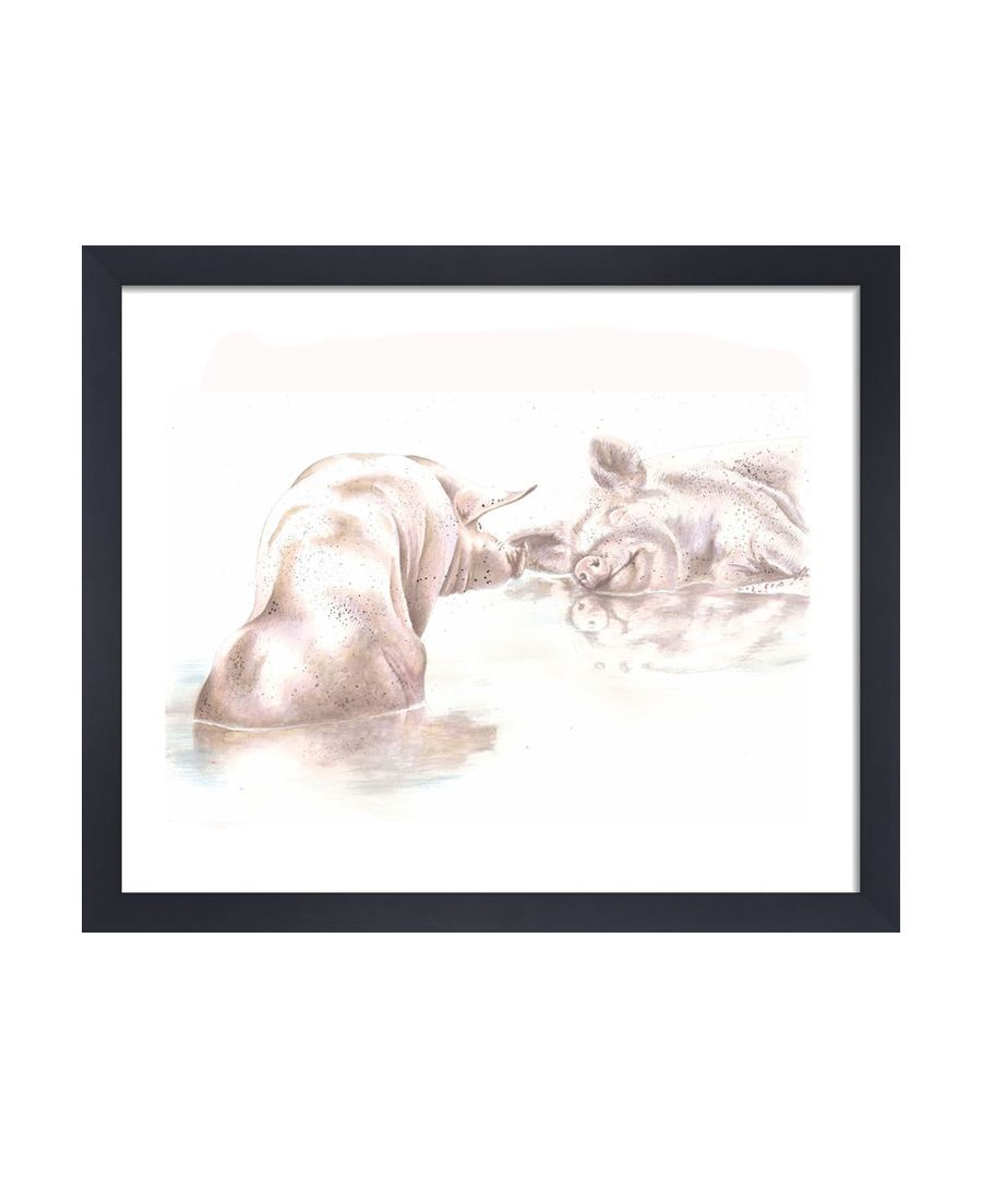 Image for Pigs by Clare Thompson Wildlife Art Print