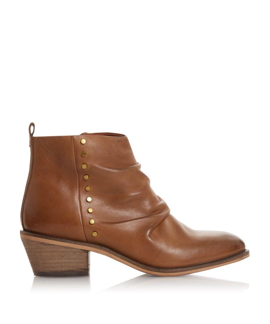 Image for Bertie Ladies PRAYDON Stud Block Heel Ankle Boots
