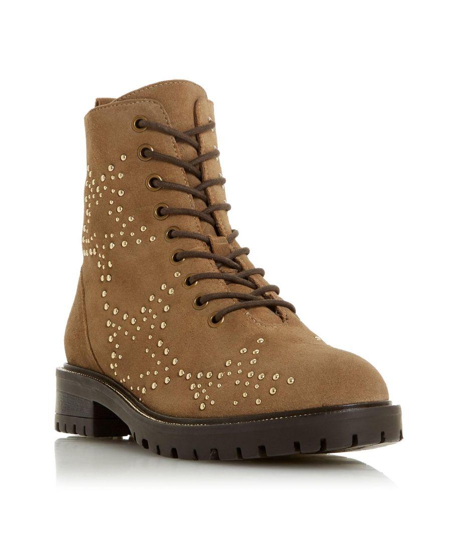 Image for Dune Ladies PRENTICE Star Stud Embellished Biker Boot