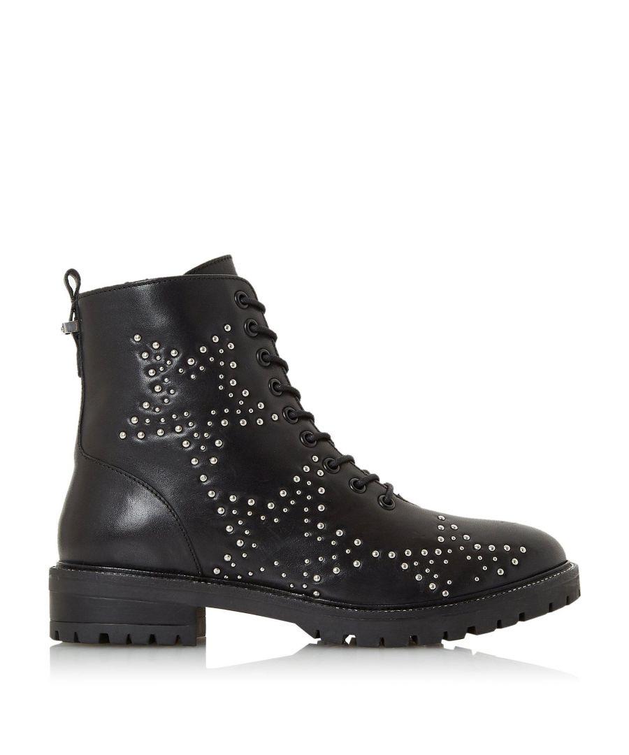 Image for Dune Ladies PRENTICE Star Stud Embellished Biker Boots