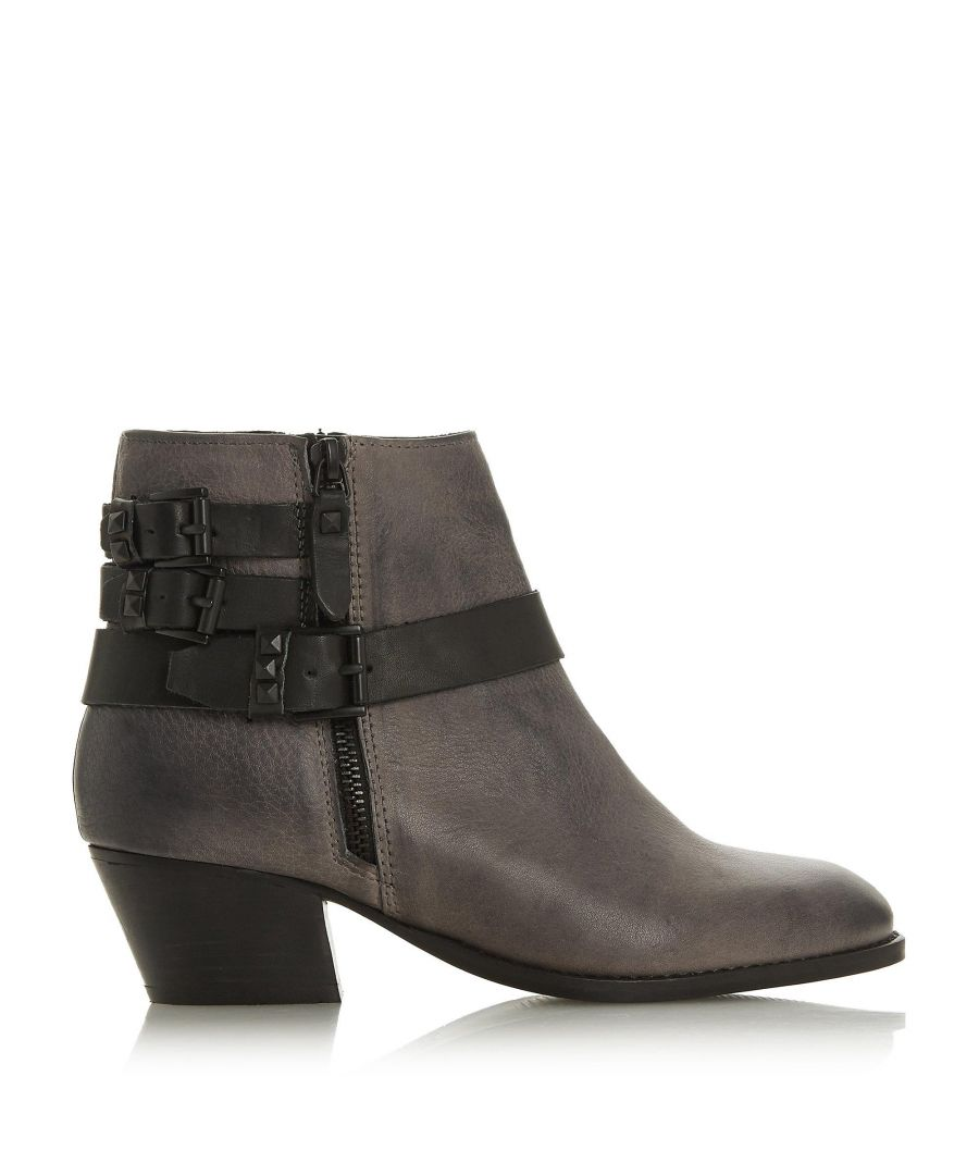 Image for Bertie Ladies PRIOT Studded Strap Ankle Boots