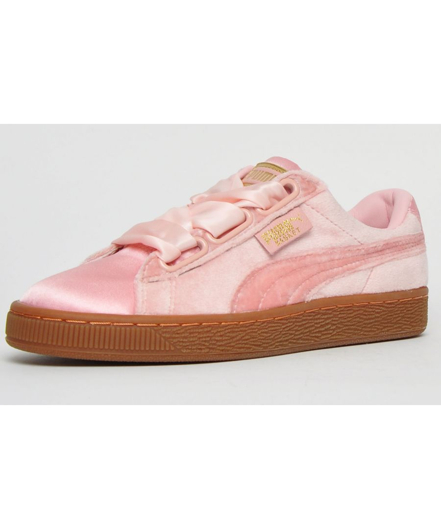 Image for Puma Classics Basket Heart Velour & Satin Womens Girls