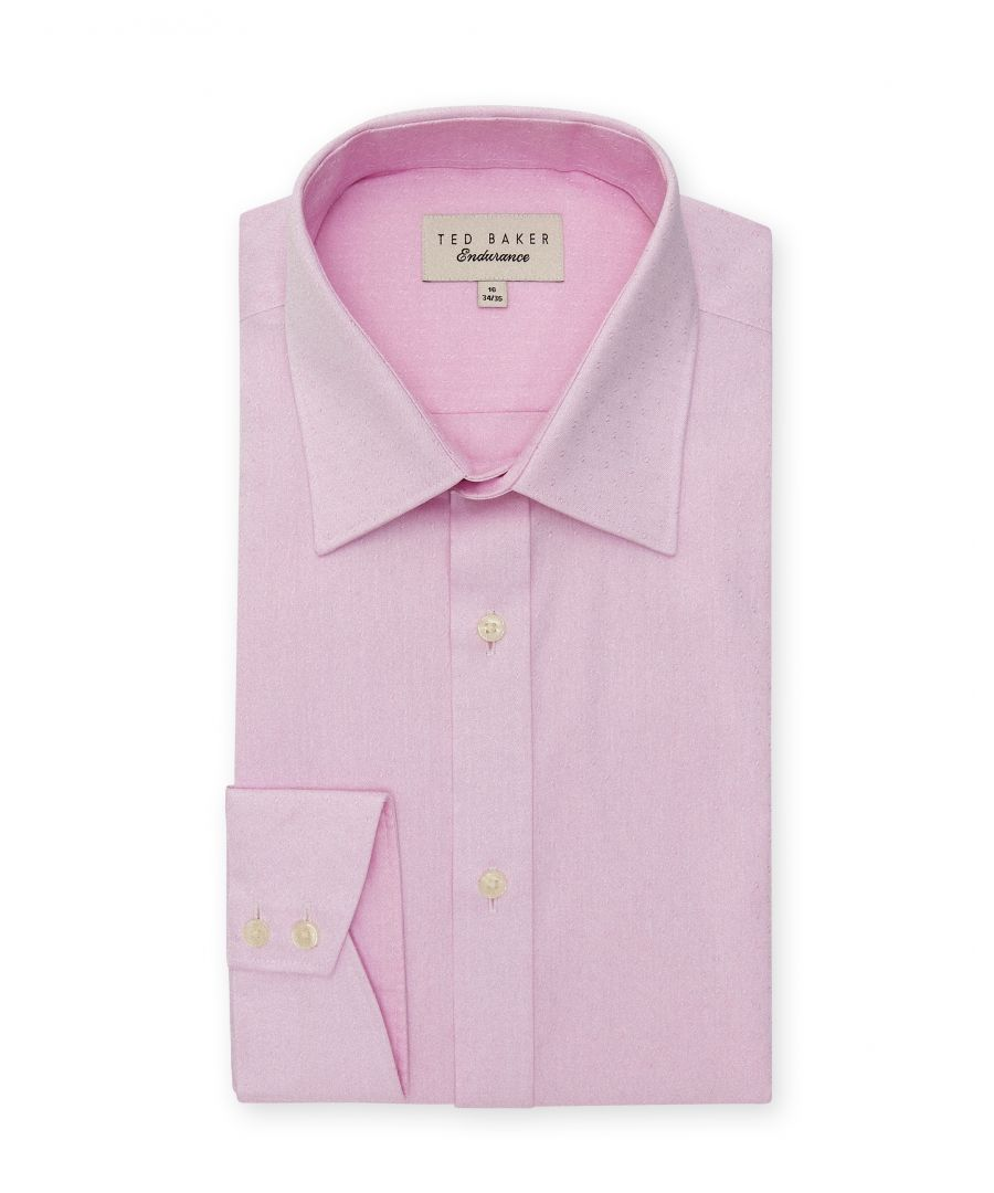 Image for Ted Baker Puferfi Dobby Twill Endurance Shirt, Pink