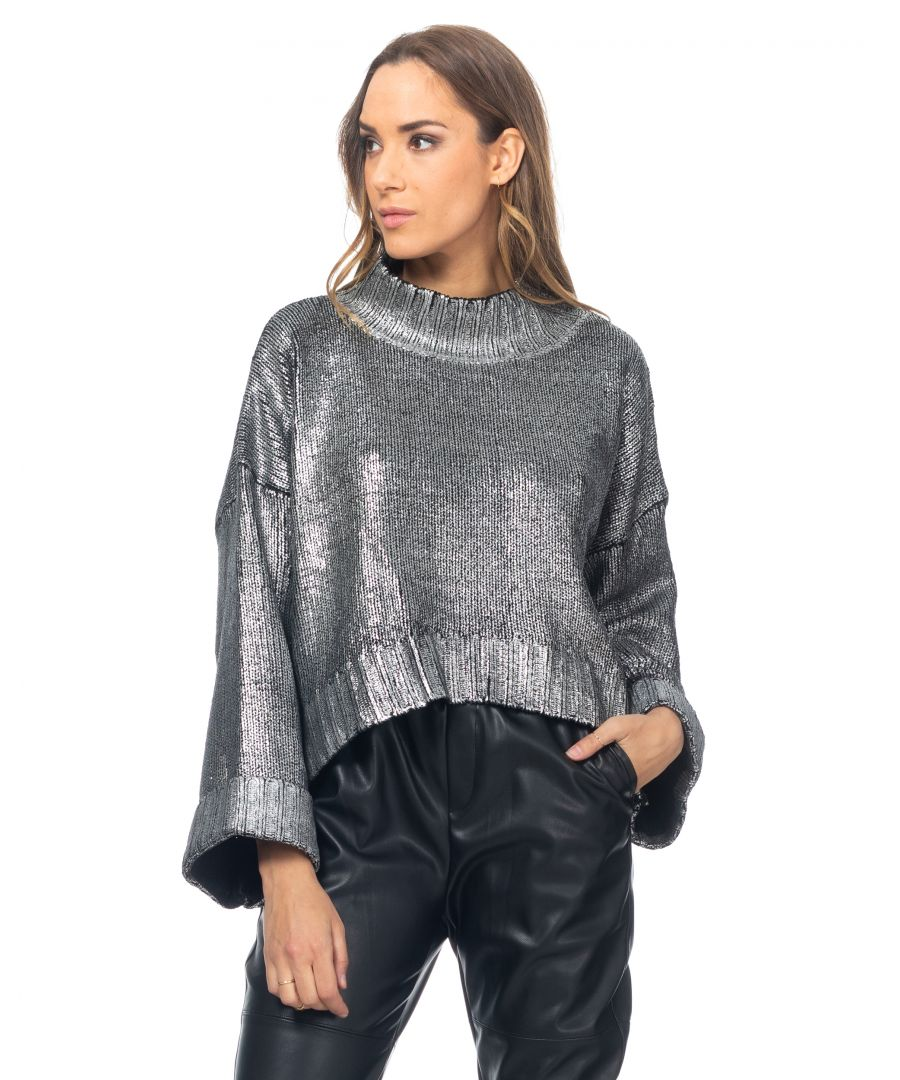 Image for Painted oversize knit sweater