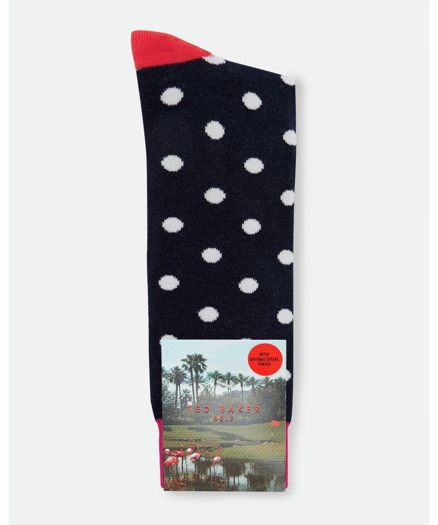 Image for Ted Baker Pupkin Cotton-Blend Golf Socks, Navy
