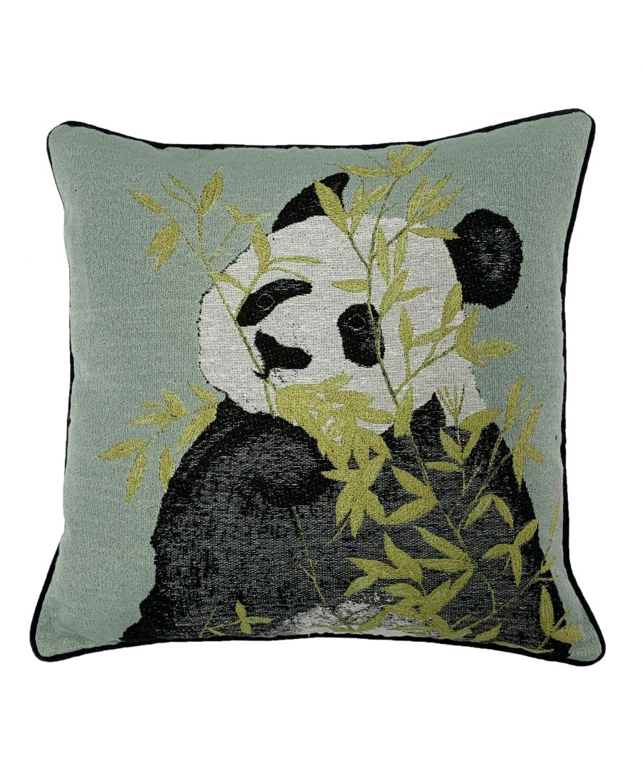 Image for Pandas 45X45 Poly Cushion Green
