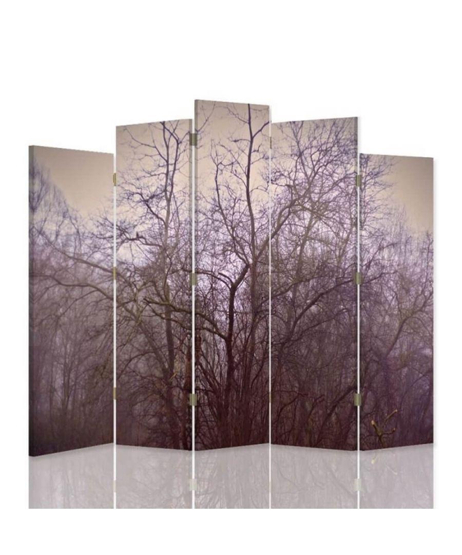 Image for Room Divider Forest Dusk - Indoor Decorative Canvas Screen cm. 180x180 (5 panels)
