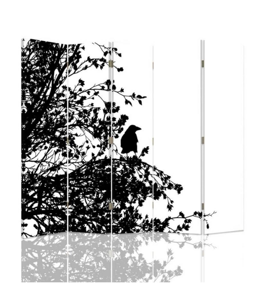 Image for Room Divider Forest Silhouette - Indoor Decorative Canvas Screen cm. 180x180 (5 panels)