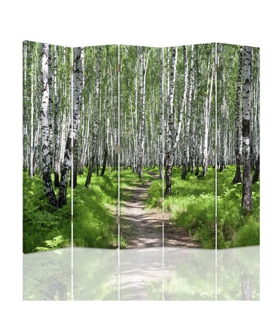 Image for Room Divider Forest Walk - Indoor Decorative Canvas Screen cm. 180x180 (5 panels)