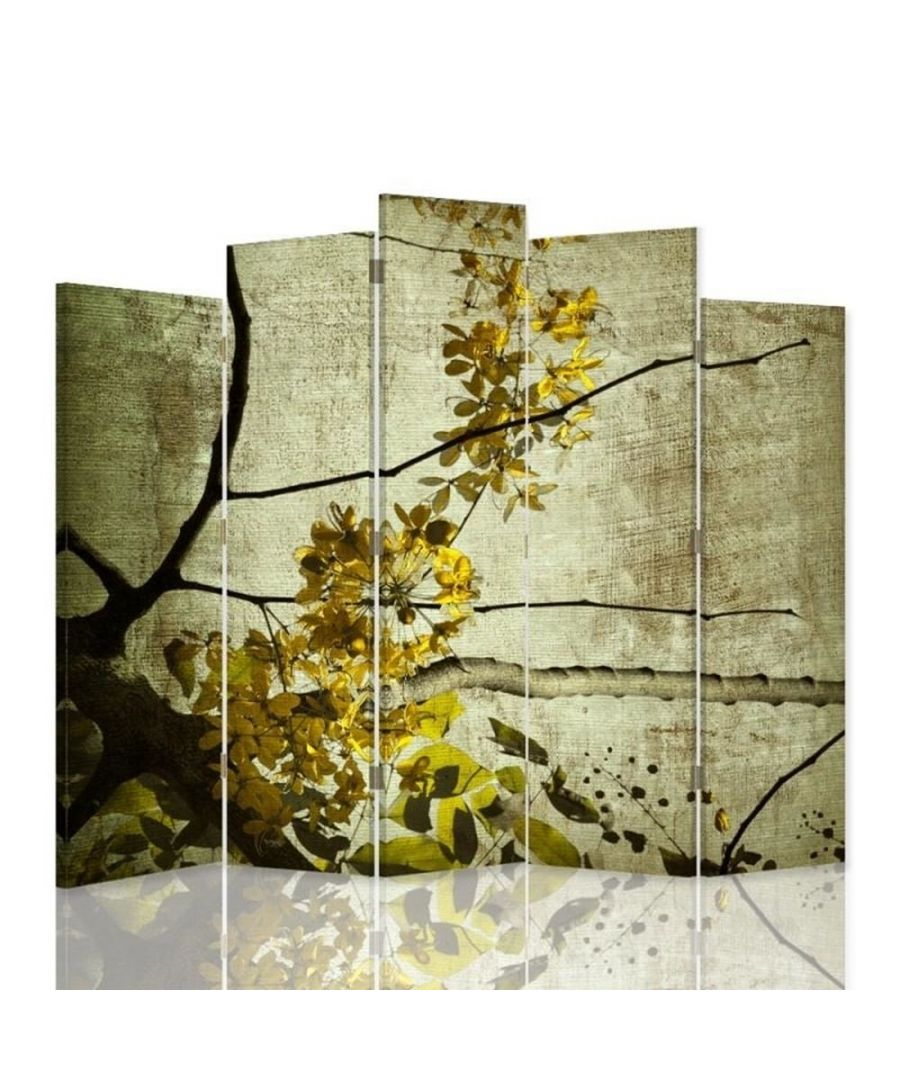Image for Room Divider Spring Blossom - Indoor Decorative Canvas Screen cm. 180x180 (5 panels)