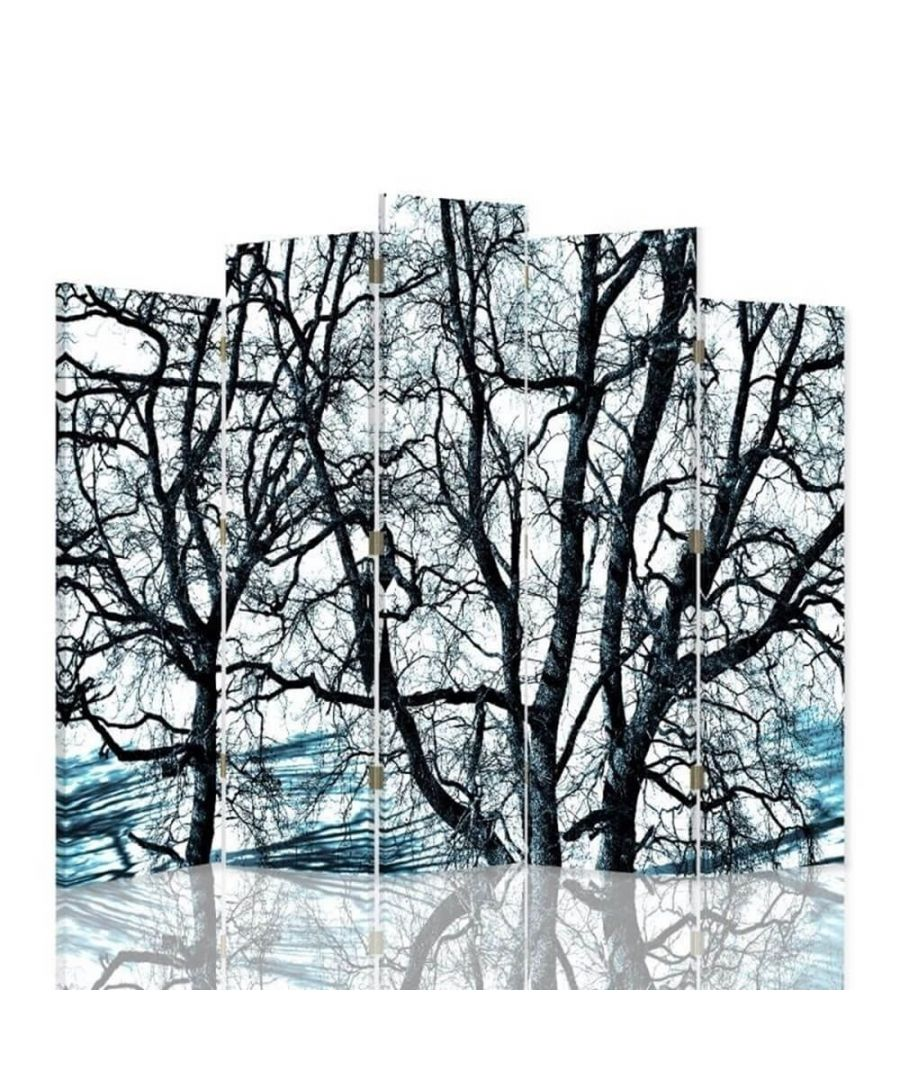 Image for Room Divider Winter Forest - Indoor Decorative Canvas Screen cm. 180x180 (5 panels)