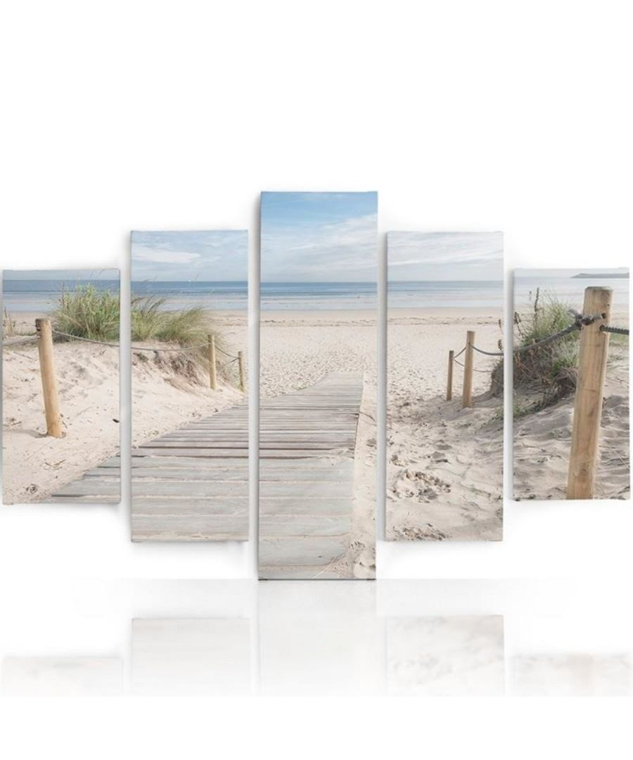 Image for Canvas Print - Walkway To The Sea Cm. 150x100 (5 Panels)