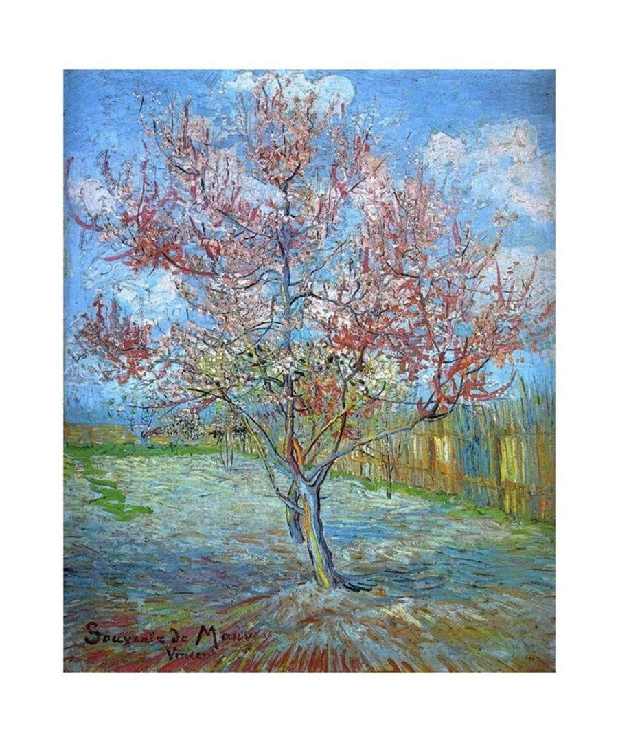 Image for Canvas Print - Pink Peach Tree In Blossom - Vincent Van Gogh Cm. 60x80