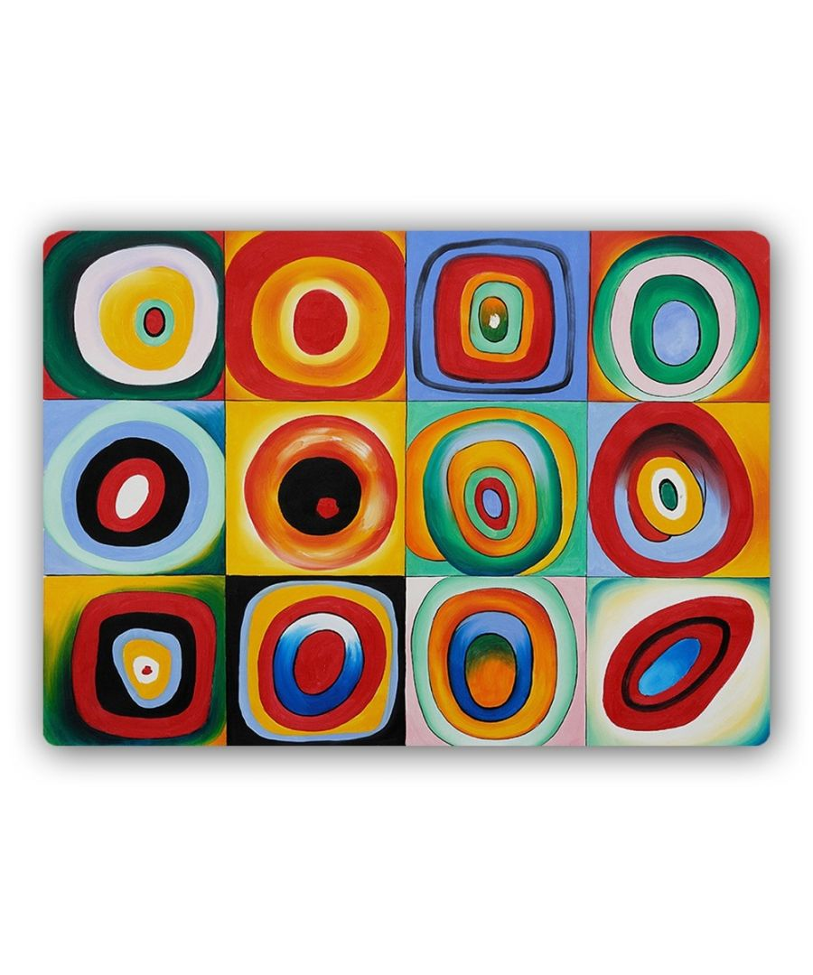 Image for Metal Print - Farbstudie Quadrate - Wassily Kandinsky