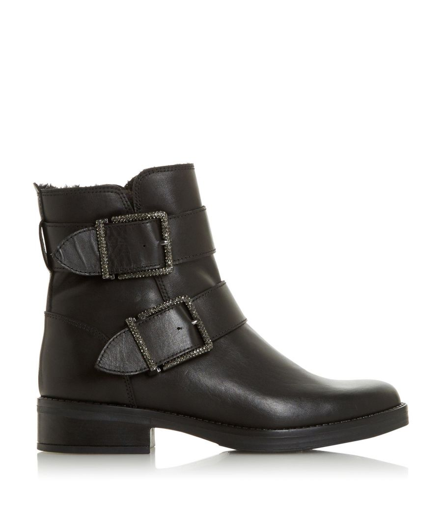 Image for Dune Ladies QUALIFY Embellished Buckle Ankle Boots