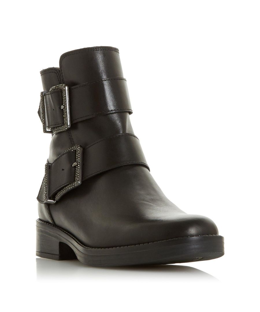 Image for Dune Ladies QUALIFY Embellished Buckle Ankle Boot