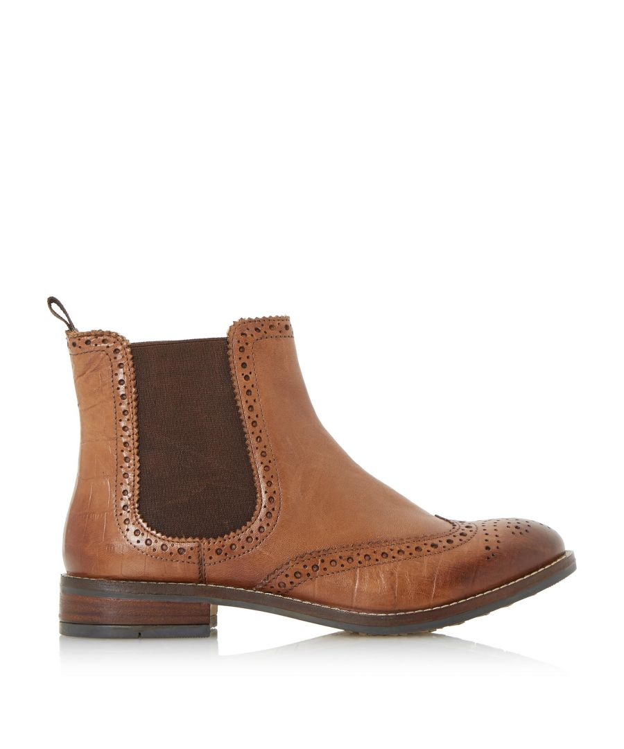 Image for Dune Ladies QUENTONS Brogue Detail Chelsea Boots