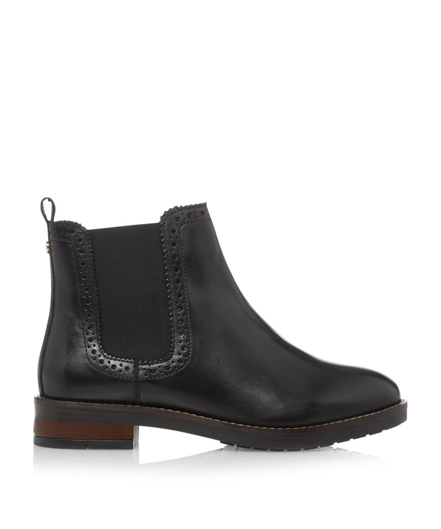 Image for Dune Ladies QUICK Brogue Detail Chelsea Ankle Boots
