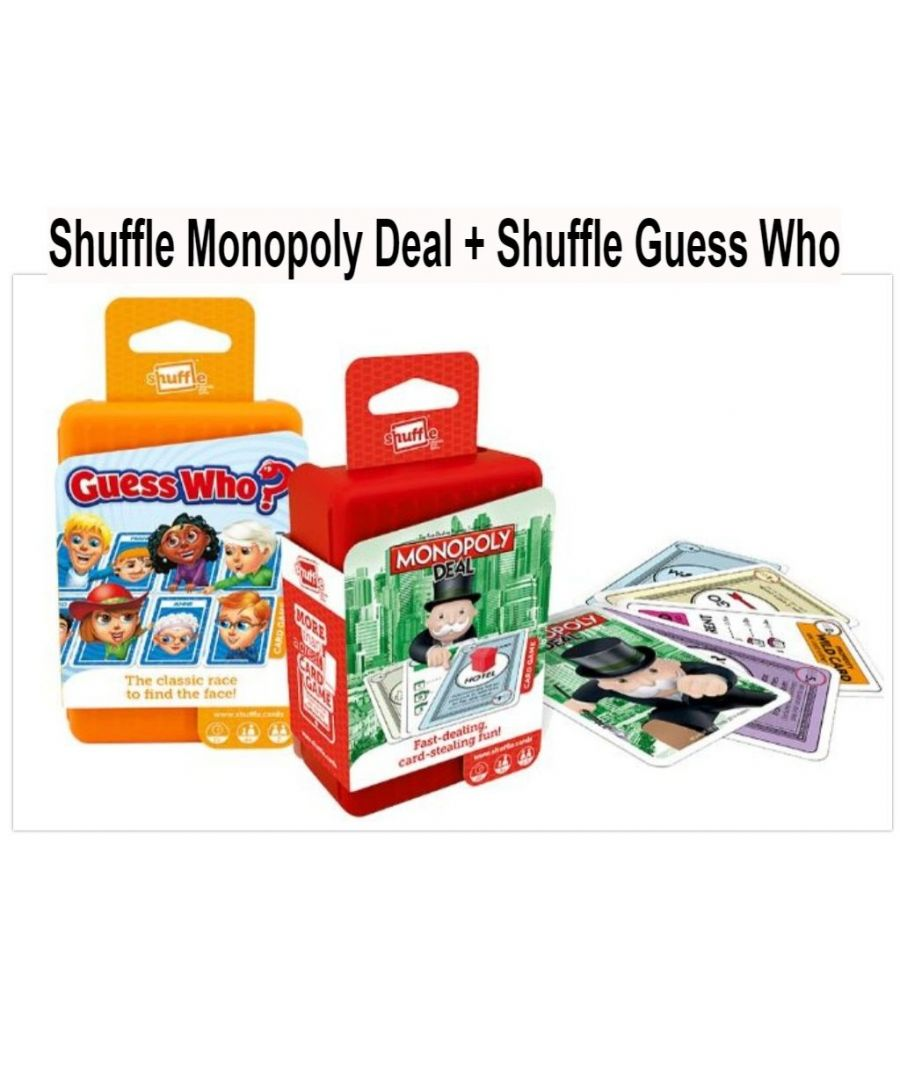 Image for Shuffle Card Games Monopoly and Guess Who