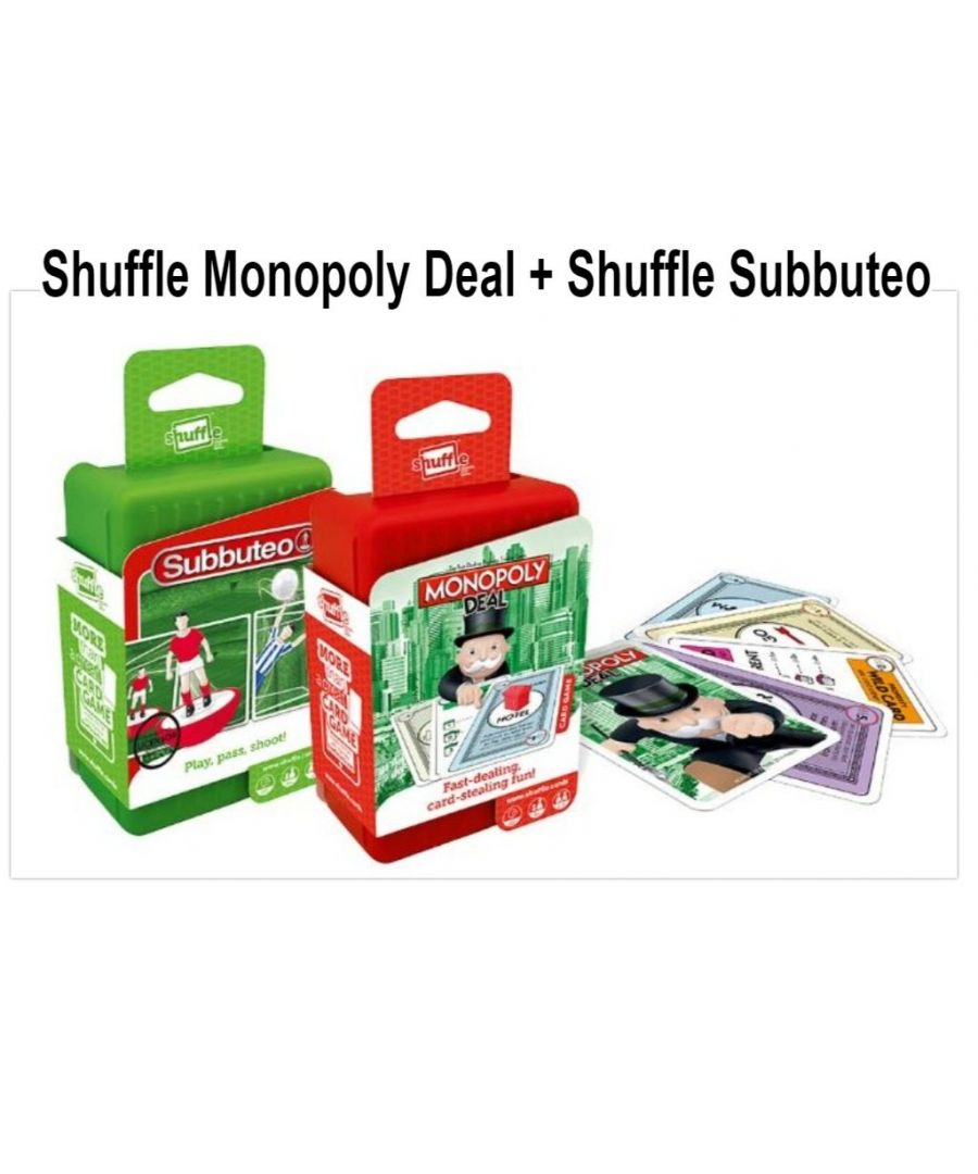 Image for Shuffle Card Games Monopoly and Subbuteo