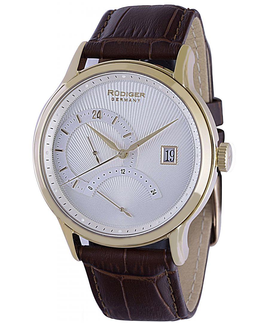Image for Rudiger Men's R2700-02-016 Aachen Analog Display Quartz Brown Watch