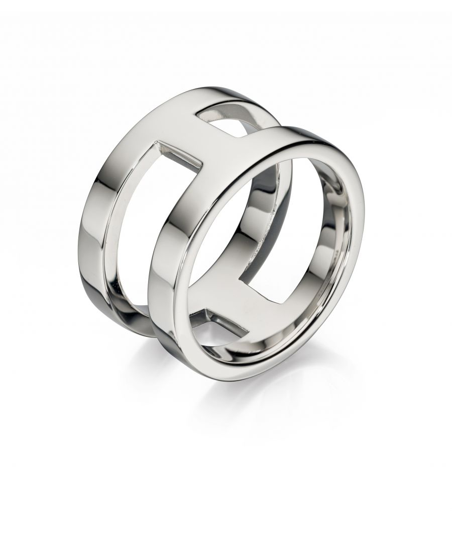 Image for Fred Bennett Mens 925 Sterling Silver Open Band Design Ring