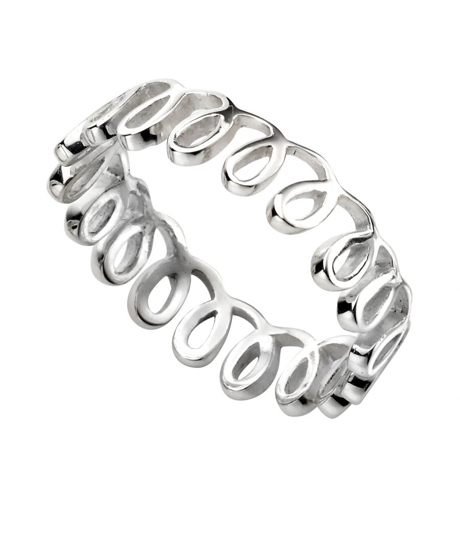 Image for Elements Silver Womens 925 Sterling Silver Loop Pattern Ring