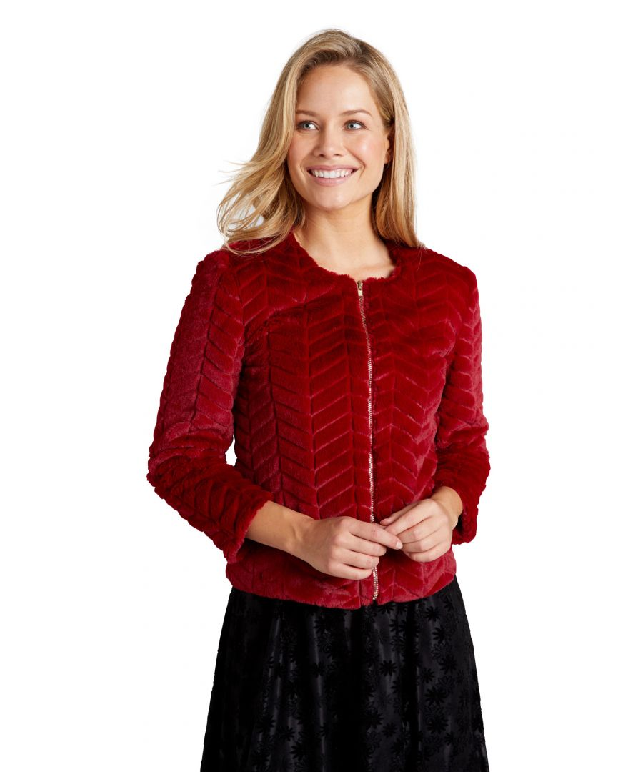 Image for Zip Up Faux Fur Jacket