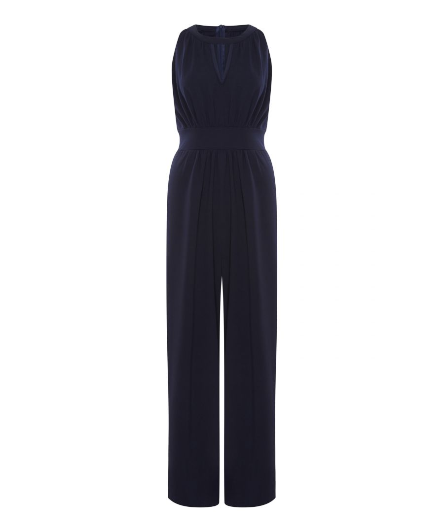 Image for High Neck Keyhole Jumpsuit