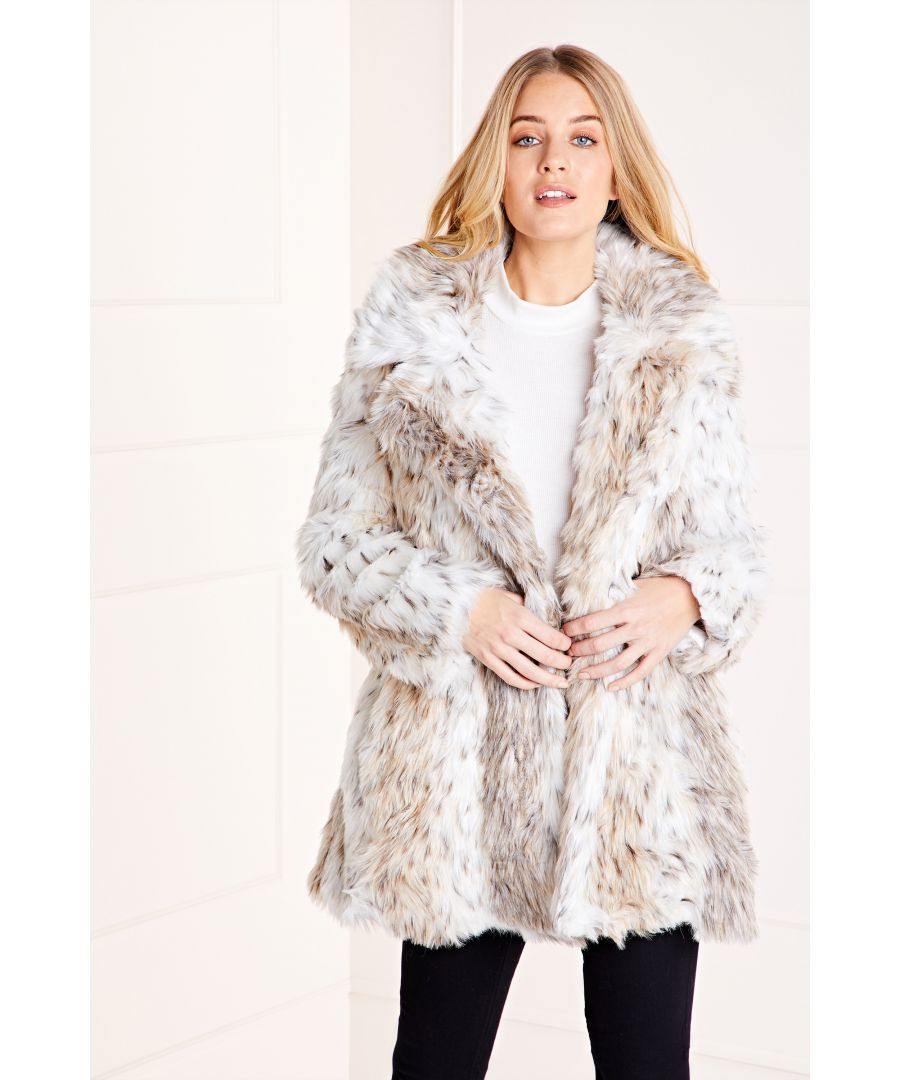Image for Double Breasted Snow Leopard Coat