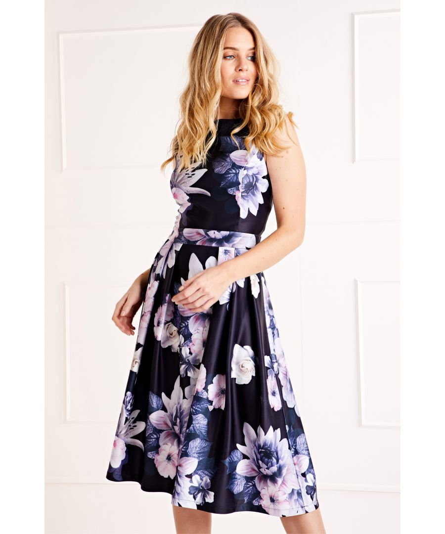 Image for Floral Printed Prom Dress