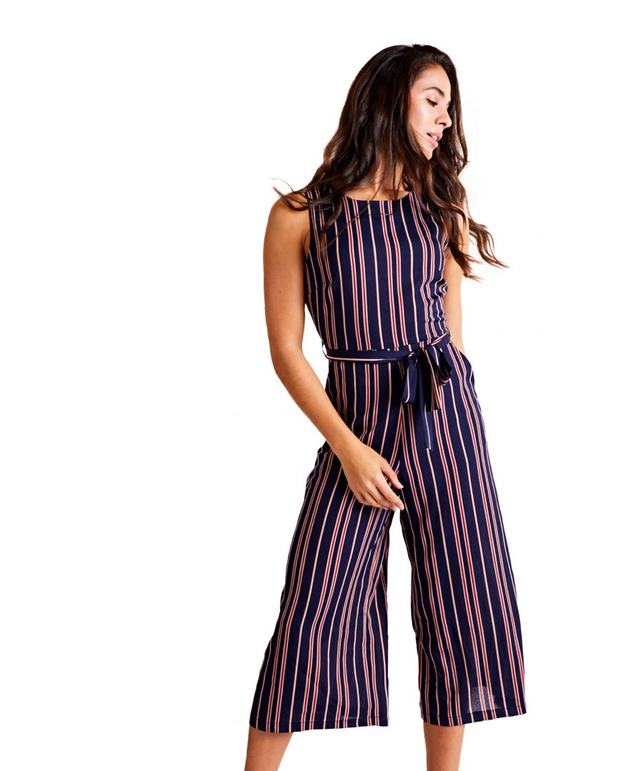 Image for Nautical Stripe Culotte Jumpsuit