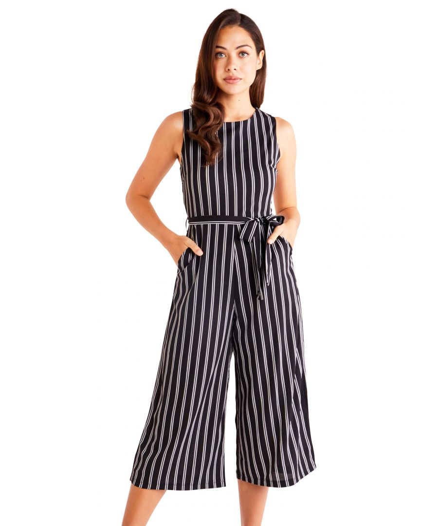 Image for Stripe Culotte Jumpsuit