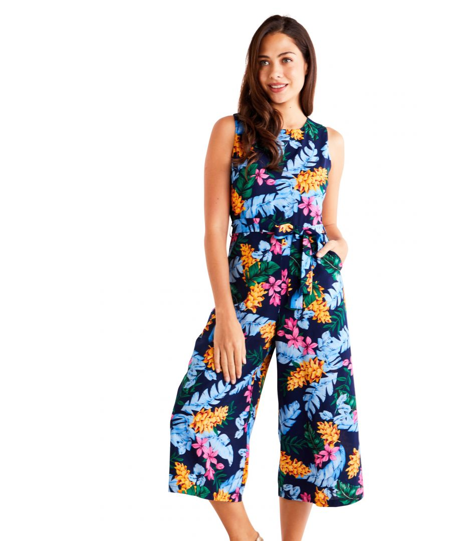 Image for Bright Tropical Culotte Jumpsuit
