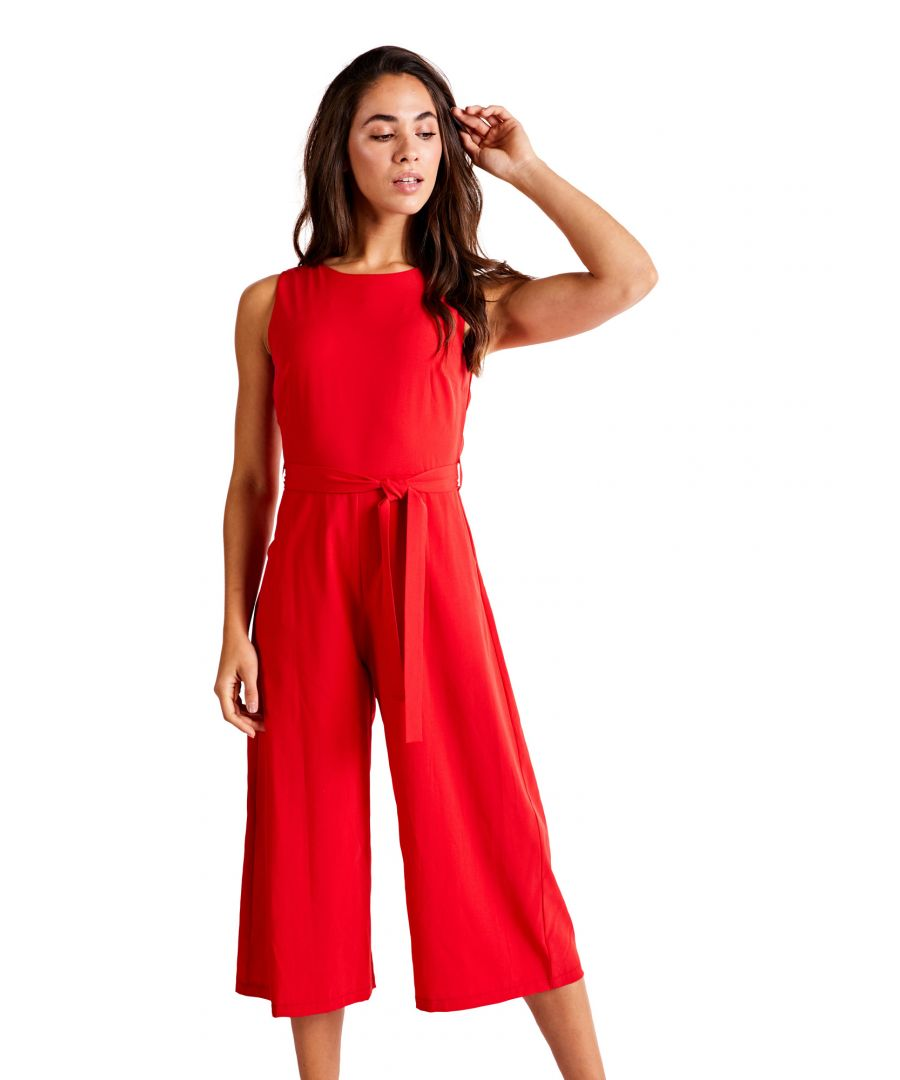 Image for Belted Culotte Jumpsuit
