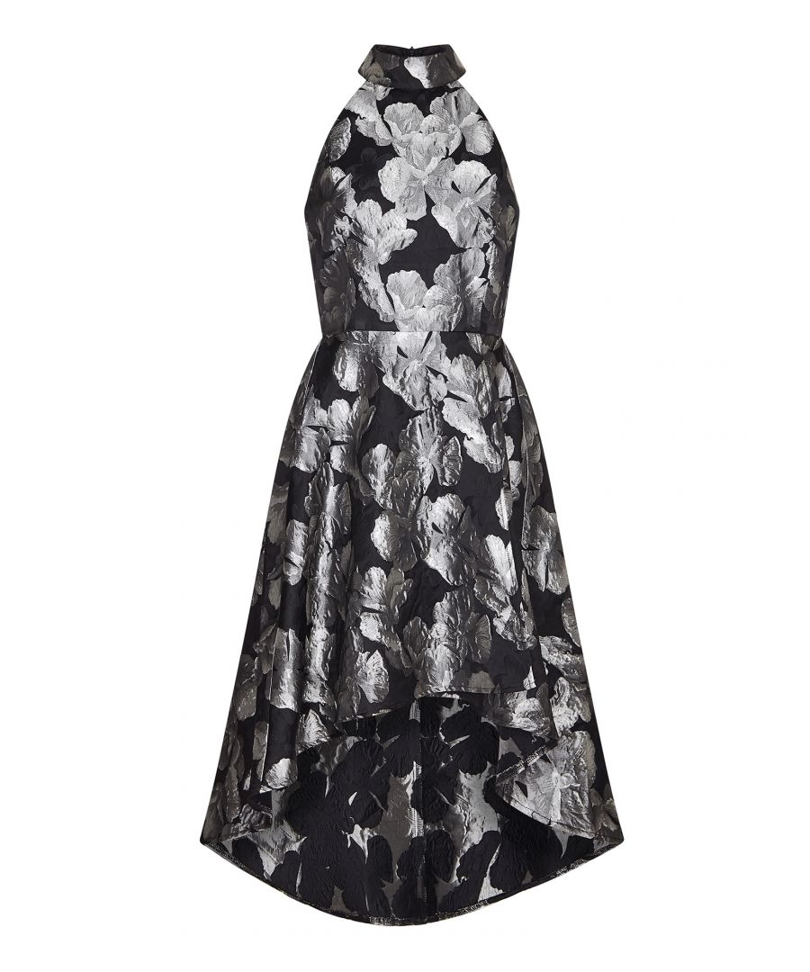 Image for Floral Shadow Print High Low Dress