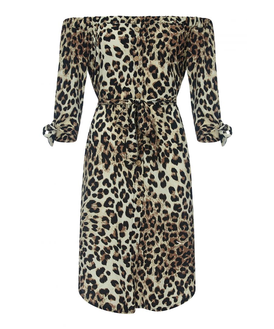 Image for Leopard Print Bardot Dress