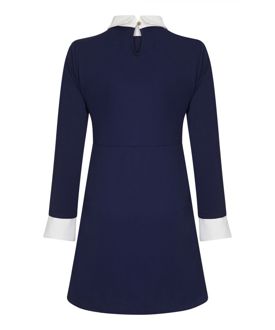 Image for Contrast Collar Dress